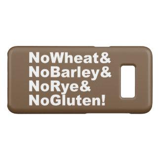 NoWheat&NoBarley&NoRye&NoGluten! (wht) Case-Mate Samsung Galaxy S8 Hoesje