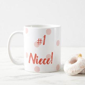 Nr 1 roze de stippenmok van de Nicht Koffiemok