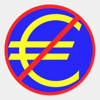 Nr aan de Euro Ronde Sticker