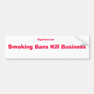 Nr aan de rokende sticker van de verbodsbumper bumpersticker