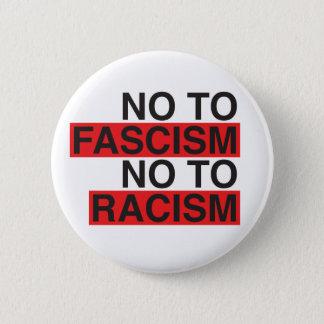 Nr aan Fascisme Nr aan Racisme Ronde Button 5,7 Cm