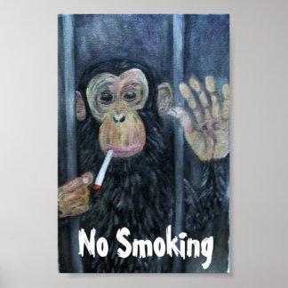 Nr - het roken Aap Poster