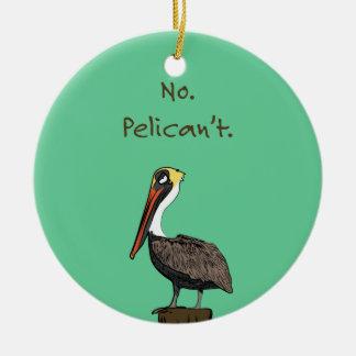Nr. Pelican't. Rond Keramisch Ornament