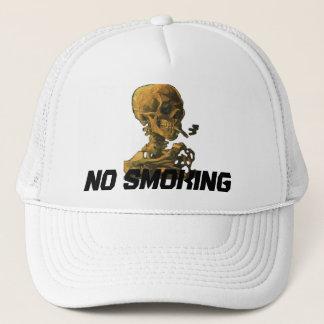 Nr - rokende Schedel met Sigaret Trucker Pet