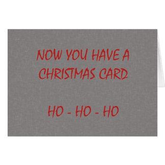 Nu hebt u een Kerstkaart Kaart
