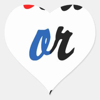 Nu of nooit hartvormige stickers
