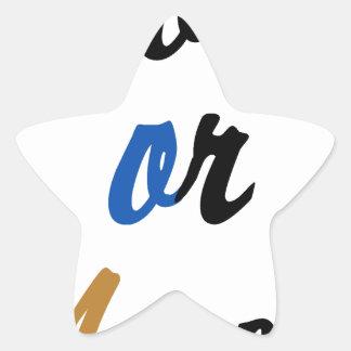 Nu of nooit stervormige stickers