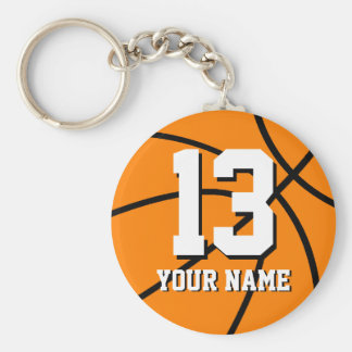 Nummer 13 basketbal keychain Personaliseerbare | Sleutelhanger