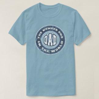 Nummer 1 Verontruste de T-shirt van de Papa