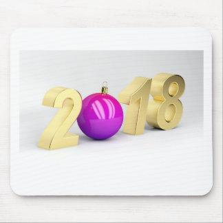 Nummer 2018 met de bal van Kerstmis Muismat