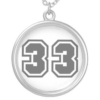 Nummer 33 zilver vergulden ketting
