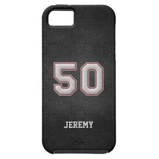 Nummer 50 de Steken van het Honkbal met Zwart Tough iPhone 5 Hoesje