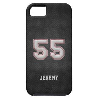 Nummer 55 de Steken van het Honkbal met Zwart Tough iPhone 5 Hoesje