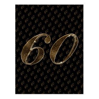 Nummer 60 de Zwarte Gouden 60ste Diamanten Briefkaart