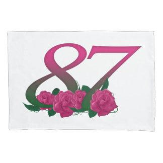 nummer 87 87ste verjaardagsroze nam kussensloop