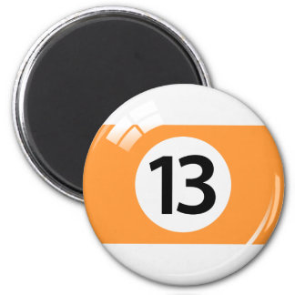 Nummer dertien de koelkastmagneet van de magneet