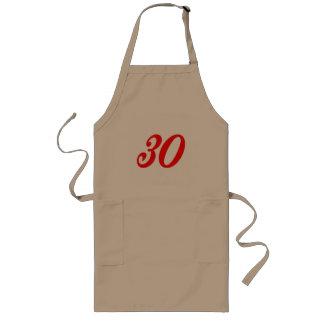 Nummer Dertig de 30ste Giften van de Verjaardag Lang Schort