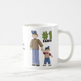Nummer één, #1 de vader van de Papa en jongenskind Koffiemok