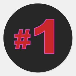 Nummer Één Rode Stickers