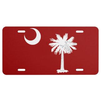 Nummerplaat van de Vlag Staat van de Zuid- van