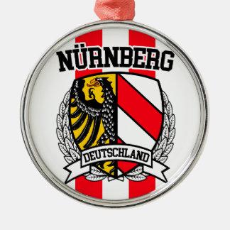 Nürnberg Zilverkleurig Rond Ornament
