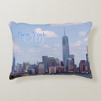 NY de Vrijheid van de Stad, de Toren en Imperium Accent Kussen