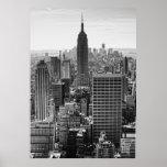 NY het Empire State Building van de Horizon van de Poster