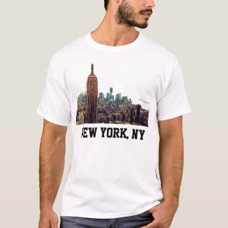 NY het Empire State Building van de Horizon van de T Shirt