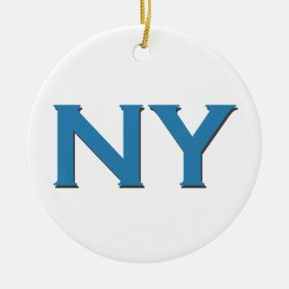 NY Logo (tekst) Kerst Ornament