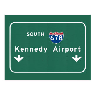 NY van de Stad van de Luchthaven JFK I-678 NYC New Briefkaart