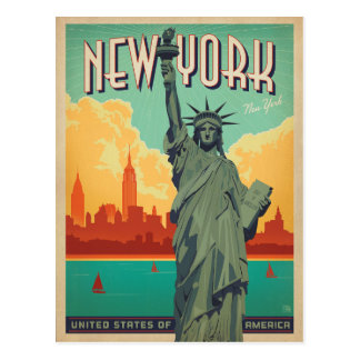 NYC - Dame Liberty Briefkaart