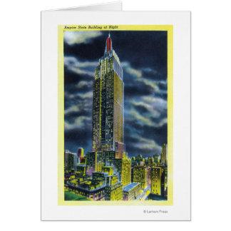 NYC, de Nieuwe Bouw van de Staat YorkEmpire bij Kaart