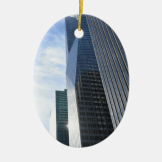 NYC de Wolkenkrabbers Manhattan van de Weg van de Keramisch Ovaal Ornament