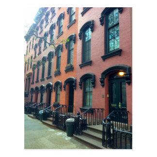 NYC Huizen in de stad, de Straat van E. Briefkaart
