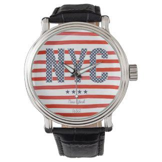 NYC | Rood, Wit & Blauw Ontwerp Polshorloge