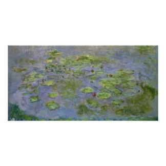 Nympheas (Waterlilies) door Claude Monet Fotokaart Sjabloon