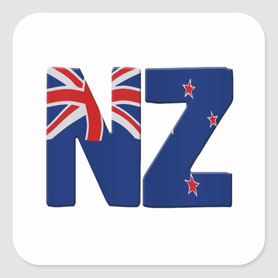 NZ flag Vierkante Sticker