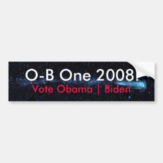O-B Één 2008 Starmap Bumpersticker