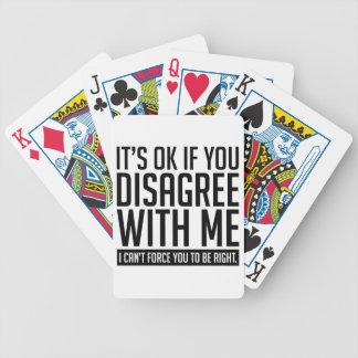 O.k. als u niet akkoord gaat pak kaarten