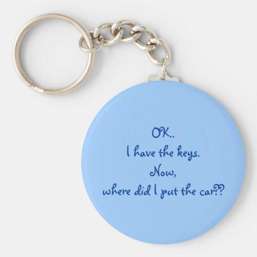 O.K. Ik heb de sleutels. Nu, waar zette ik de auto Sleutel Hanger