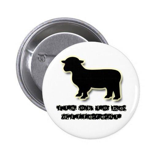 O k om een verschillend zwart schaap te zijn speld buttons zazzle - Om een e b e bbinnenkap te creeren ...
