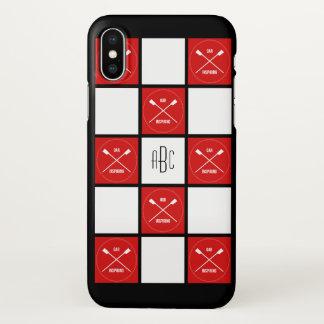 Oarsome het monogram rode witte vierkanten van