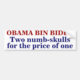 OBAMA BAK BIDEN BUMPERSTICKER