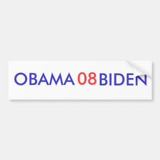 Obama-Biden 08 de Sticker van de Bumper Bumpersticker