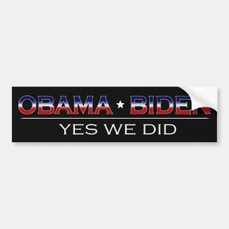 Obama * Biden - de Sticker van de Bumper Bumpersticker