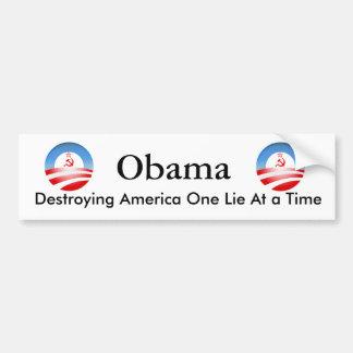 Obama die Amerika vernietigen Bumpersticker