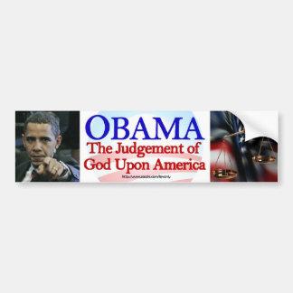 OBAMA, HET OORDEEL VAN GOD OP AMERIKA BUMPERSTICKER