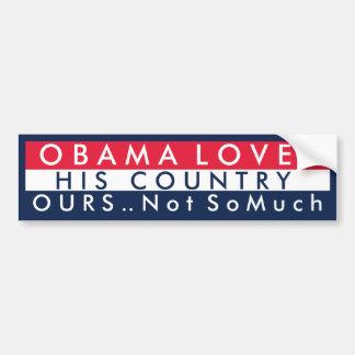 Obama houdt van Zijn Land Bumpersticker
