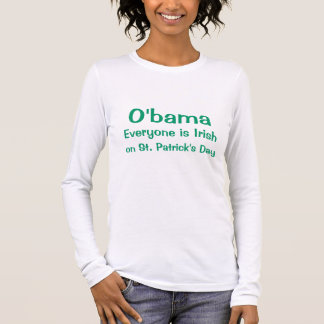 O'bama, iedereen is Iers, op St. Patrick Dag T Shirts