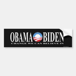 Obama van de verandering biden stickerzwarte bumpersticker